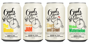 Owl's Brew Radler Tea + Craft Beer Cans