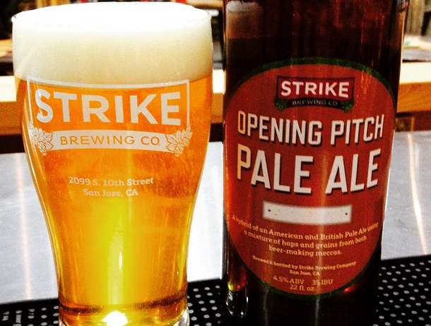 Strike Opening Pitch Pale Ale at O.co Coliseum (Oakland Athletics)